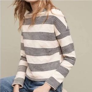 Anthropologie Eri + Ali Crewneck Stripe Sweater XL